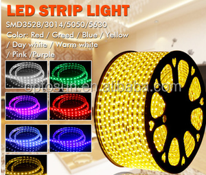 110V/220V 60 Led/m RGB Flexible SMD 5050 LED Strip Light Tape light with Flash bulb