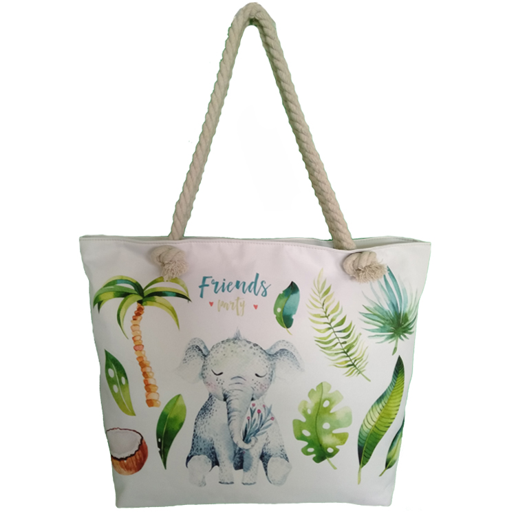 Hot Selling Lovely Animal Women Beach Large Polyester Travel Tote Bag