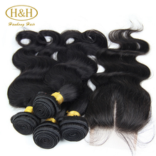 Free parting,middle part or 3 way part 100% peruvian virgin hair bundles with lace closures