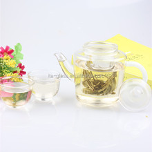 300ml high quality competitive price glass tea coffee pot with strainer wholesale water filter glass tea jug with fruit infusion
