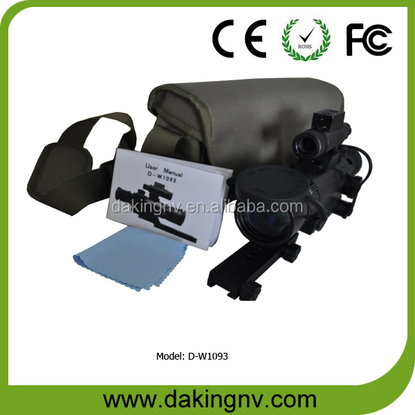 Gen1+ cheap hunting night vision riflescope, generation 1 rifle scope night vision