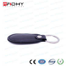 100% Waterproof NFC NTAG213 Leather RFID Keychain for Loyalty Programs