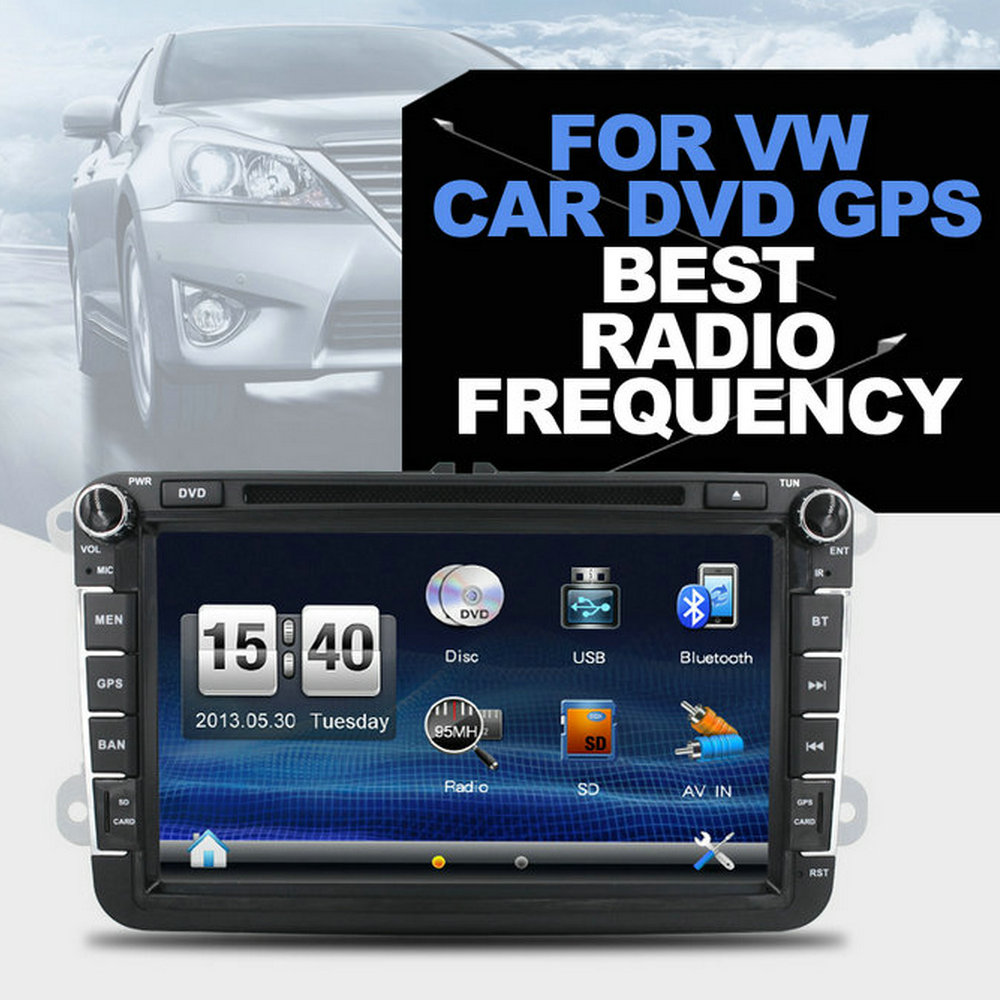 "8"" HD Display Multimedia Radio Car Audio with GPS Bluetooth FM for VW Golf 4 Navigation System"