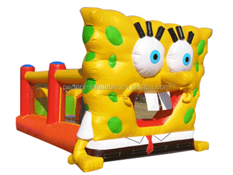 Mega yellow animal inflatable bounce castle, outdoor playground equipment for kids