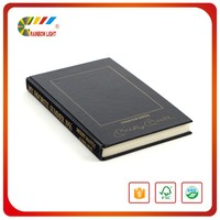 Good quality coated paper sewing binding business hardcover book printing service