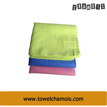 Lemon green pva chamois frog bath towels