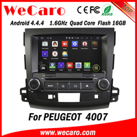 Wecaro WC-MO8063 car dvd player for peugeot 4007 radio android 4.4 3G wifi playstore