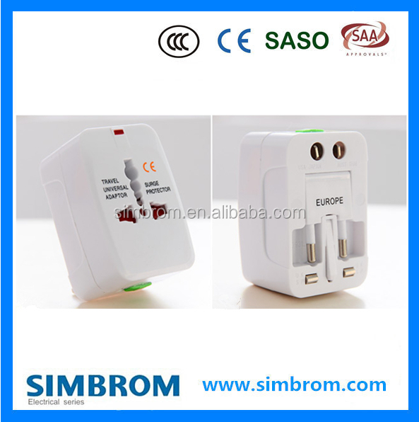 High Quality best international portable universal usb travel adapter
