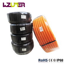 WZUMER PP flame retardant corrugated flexible wire conduit plastic electric cable protection corrugated plastic pipe price