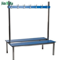 Hot sale aluminum gym waiting locker room benches