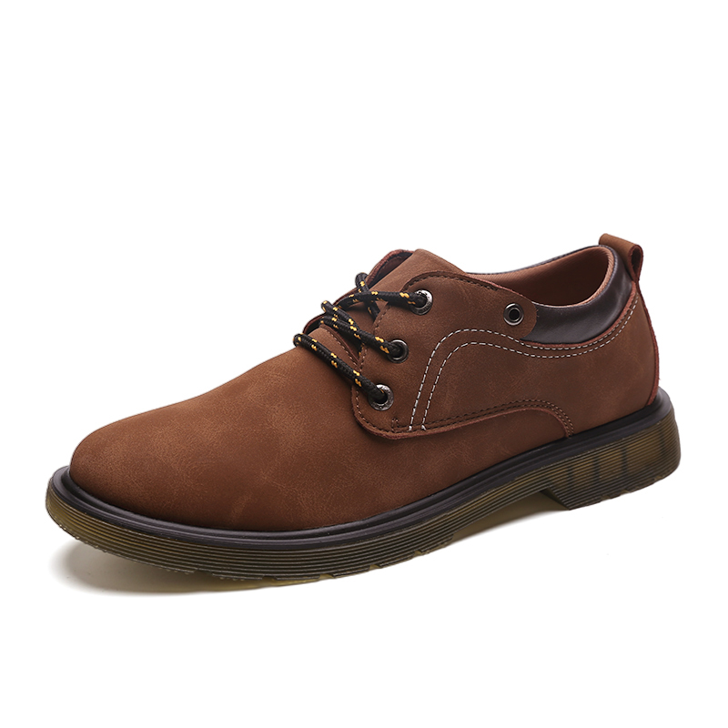Shoes Outlet Fashion Mens Brown Leather Casual Shoes
