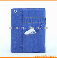 jeans case cover for ipad 4 3 2,for ipad case