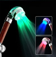 PC material bathroom led light rain shower head