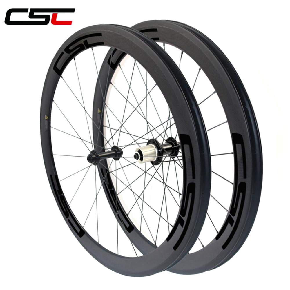 Ceramic Bearing 23mm Width 50mm Clincher Carbon Road Bike Wheels 6 Pawls <strong>R13</strong> hub