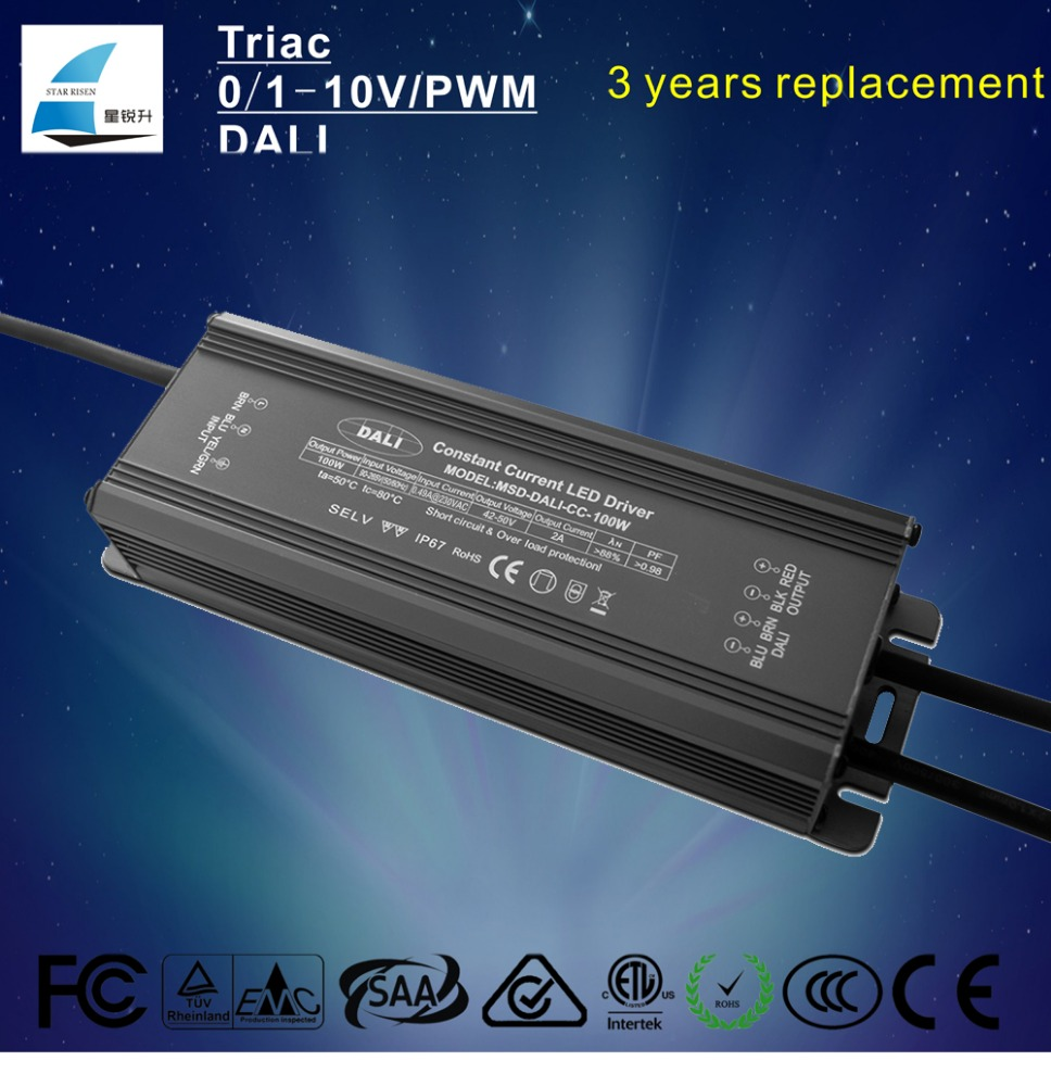 dali dimmable circuit led driver constant current 100w transformer 2000ma 2500ma 3000ma switch power supply