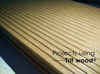 WPC decking outdoor decking/105mm*30mm Screws type Silvery Brown Trit wood decking wood plastic compsite price