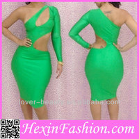 Free Shipping Wholesale Cheap Sexy Green Bodycon Dress 2013