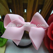 wholesale new handmade Sweet hair ribbon bowknot ponytail holders for girls