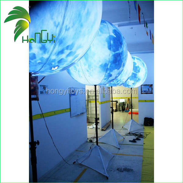 customized inflatable moon shaped night lighting balloon/custom made shape balloons