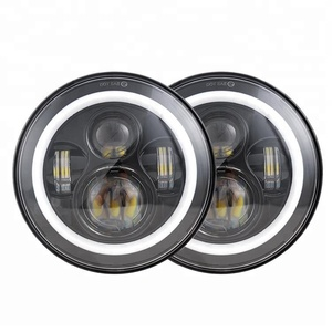 "Hot Osram 45W 7 inch led head lights halo angel eyes 7"" round led headlight for jeep patriot"