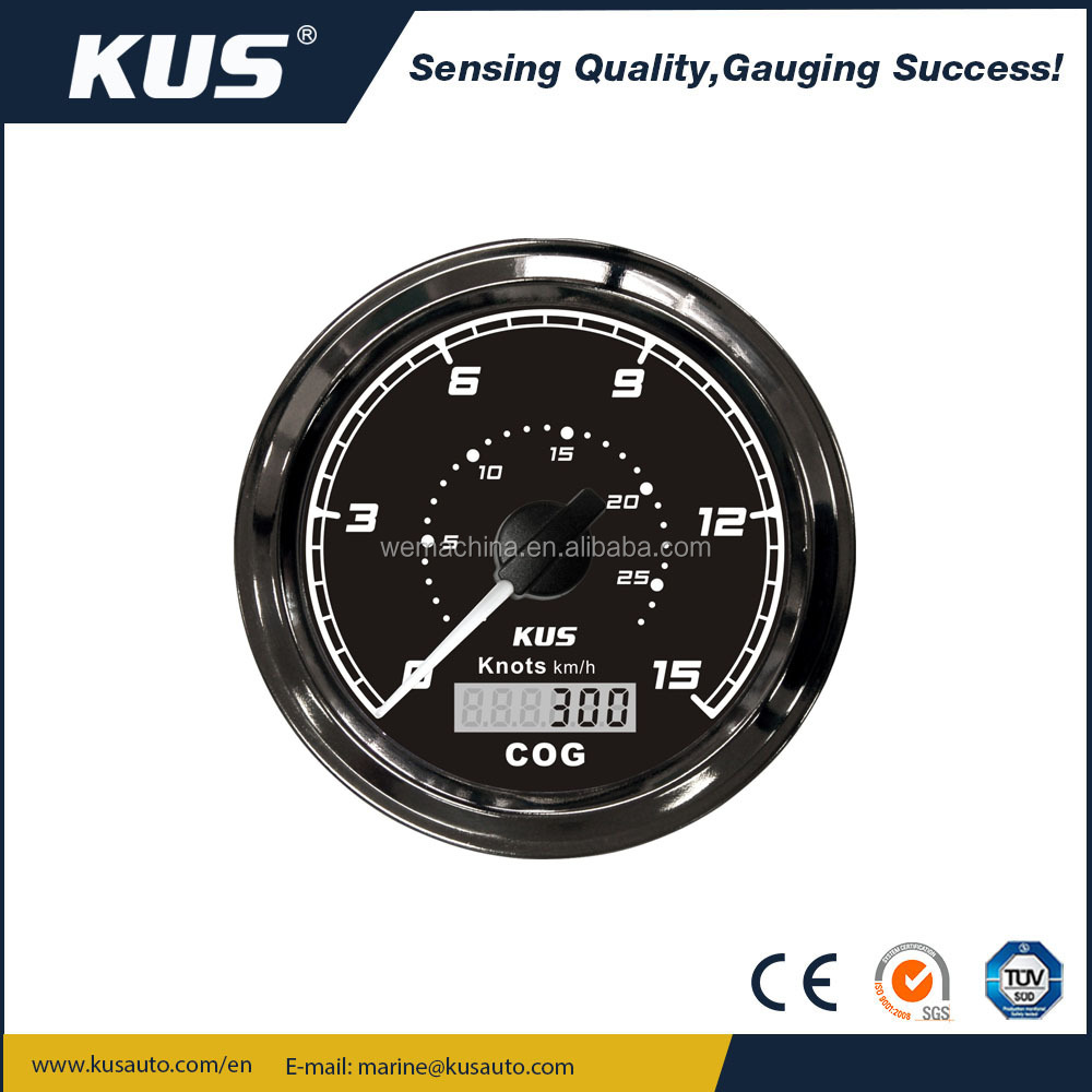 KUS SEA Q Series GPS speedometer 15knots