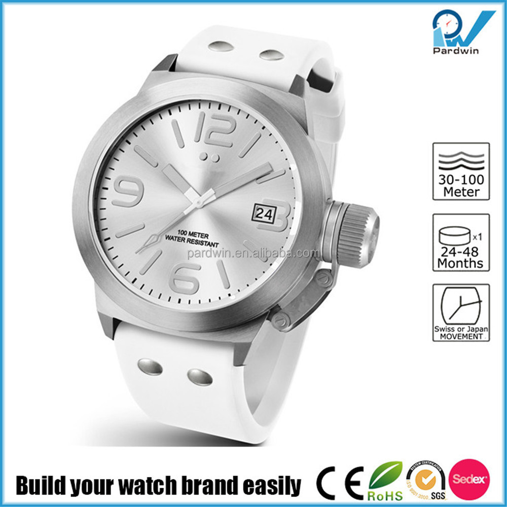 OEM eco-friendly rubber strap stainless steel back quartz quality watches fashion men wristwatch