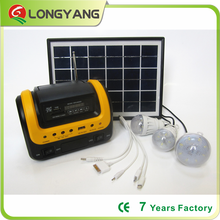 New model portable 12V solar lighting system 5W solar DC home system with MP3 radio player