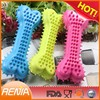 RENJIA pet safe silicone eco friendly dog toys silicone dental functional chewing bones