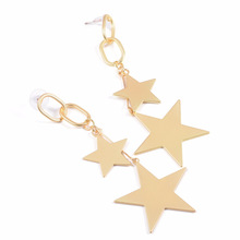 Fashion Gold Color Star Design Dangle Earrings For Women Bohemia Long Earrings indian jewelry Accessories
