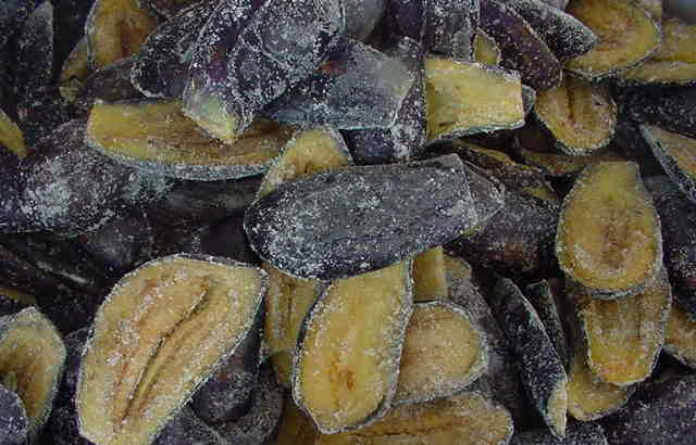 IQF frozen fried eggplant whole
