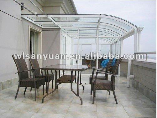 Policarbonato transparente awnings canopy dise os de - Suelo de policarbonato ...