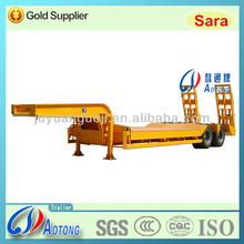 Hot Sale Double Axle Lowbed/lowboy Semi Trailer/Concave Beam Truck Trailers