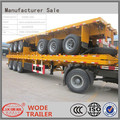china factory 40ft / 20ft container flatbed semi trailer for sale
