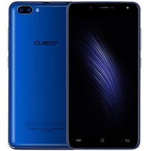 Blue CUBOT Rainbow 2 mobile phone with 2 Back Camera supporting 256GB TF Card