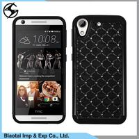 Wholesale rugged hybrid combo bling diamond mobile phone 2 in 1 back cover case for htc desire 626 smartphone