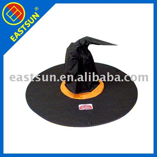 Nylon folding halloween witch hat party hat
