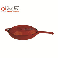 Chaozhou MUYAN ceramic colorful frying pan round shape 2016 new design for wholsale