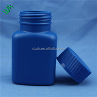 30g/40g/60g/70g/100g/120g PE blue Plastic bottle for tablets/capsules health food & dietary supplementsc made from China