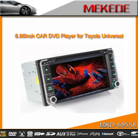 6.95'' CAR DVD Player for TOYOTA universal support 1080P video format
