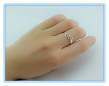 Korean edition fashion S925 silver exquisite smooth opening christmas snowflake antlers ring