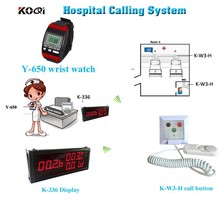 Wireless Patient Nurse Call System K-W3-H Button Be Installed On Each Patient Bed And Room Light For Nurse From Outside
