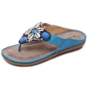Stock Women Beaded Sandals Woman Wholesale Price Sandals