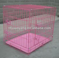 USA hotsale wire metal pink & black dog cage pet kennel price