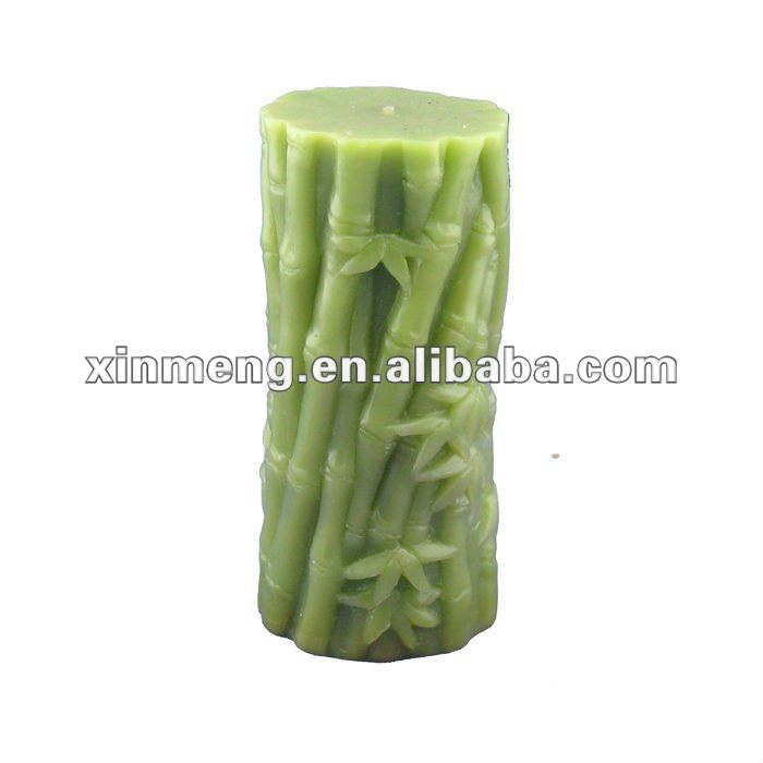 hot selling manufacture Embossed Pillar candle gift decoration