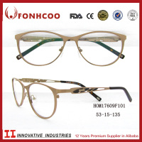 FONHCOOChina Online Buy Irregular Hollow Out Temple Design Eyeglass Optical Frame