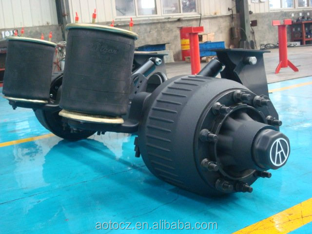 heavy truck and semi trailer lift axle air bag suspension system