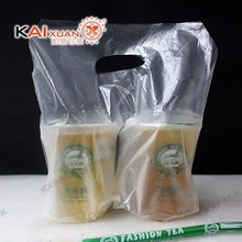 Plastic HDPE Carry Out Bag for drink