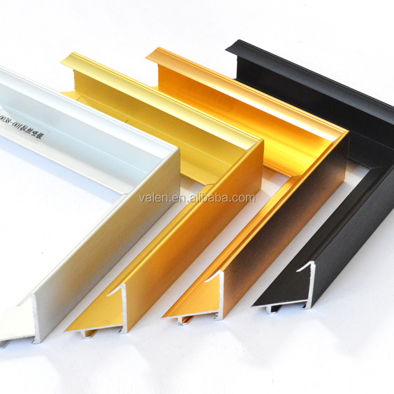 L0038 Wholesale Golden ,Silver Chrome Polished Aluminum Profile For Picture Or Photo Frame