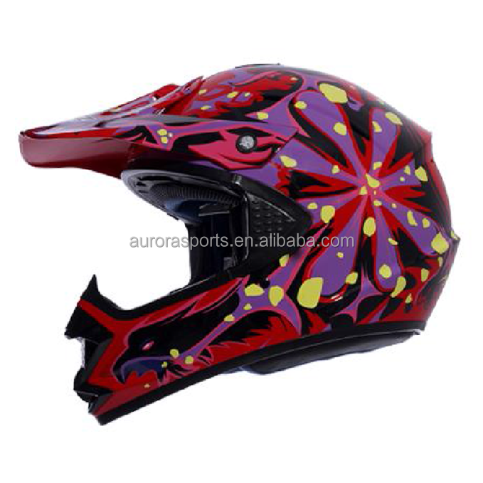 Professional ABS Shell Downhill Helmet Off Road Motorbike Helmet With Visor