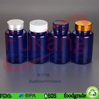 blue round capsules plastic brand bottles and jars with lids in china